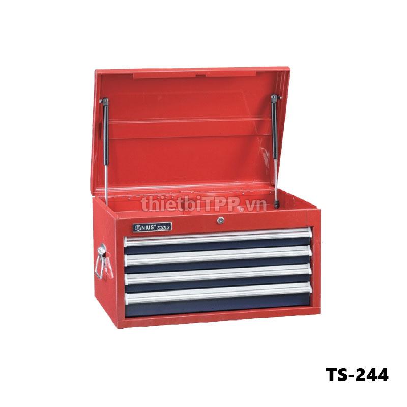 Tủ dụng cụ 4 ngăn TS-244, tủ đồ nghề 4 ngan, tủ dụng cụ sửa chữa chữa ô tô, tủ đựng dụng cụ 4 ngăn, tủ đồ nghề, tủ đồ nghề sửa chữa xe máy
