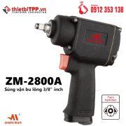 Súng vặn bu lông Zemmer 3/8 inch ZM-2800A, súng mở bu lông , súng hơi mở bu lông, súng vặn bu lông, súng mở bu lông bằng điện