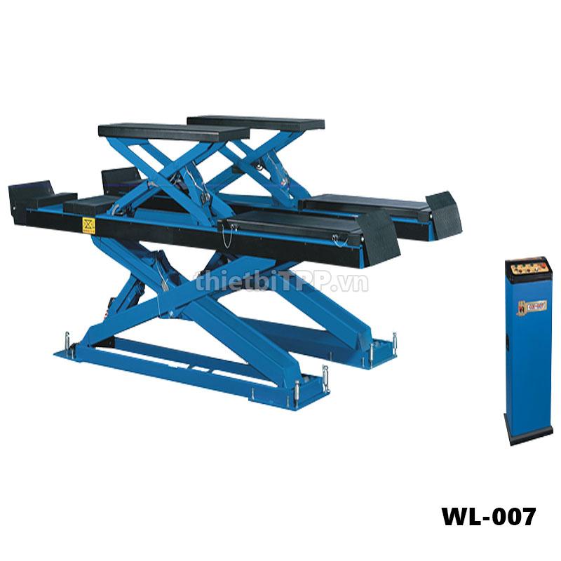 Cầu nâng kiểu xếp 2 tầng WL-007, cầu nâng kiểu xếp WL-007, cầu nâng cắt kéo WL-007, cầu nâng kiểu xếp nâng gầm WL-007, cầu nâng kiểu xếp ô tô WL-007