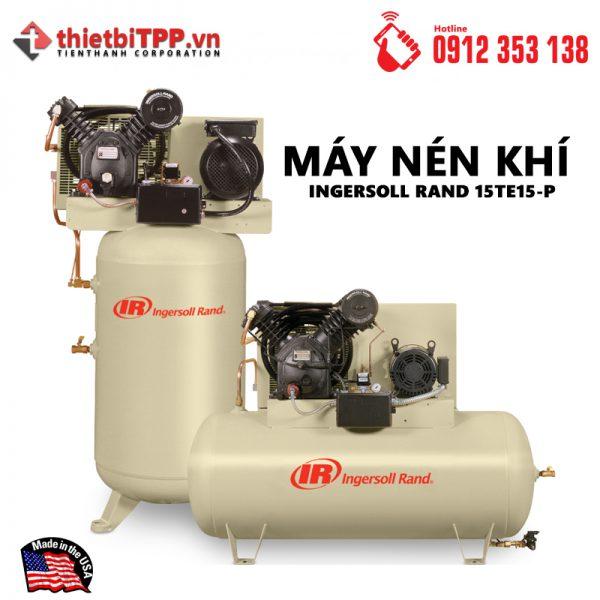 Máy nén khí 15TE15-P, máy nén khí piston, máy nén khí, Máy nén khí Ingersoll Rand, máy nén khí công nghiệp, máy bơm hơi khí nén, Máy nén khí Piston 15TE15-P, máy bơm hơi