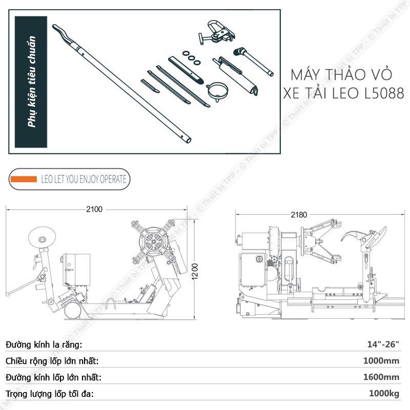Thong So May Ra Vao Lop Xe Tai Chuyen Dung Italy Leo L5088