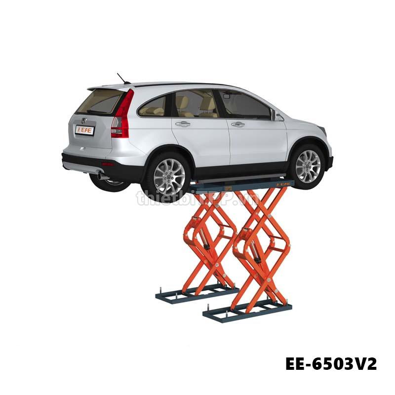 Cau Nang Cat Keo Nang Bung O To Ee 6503v2 3 5 Tan, cầu nâng kiểu xếp, cầu nâng ô tô kiểu xếp EE-6503V2, cầu nâng kiểu xếp nâng gầm
