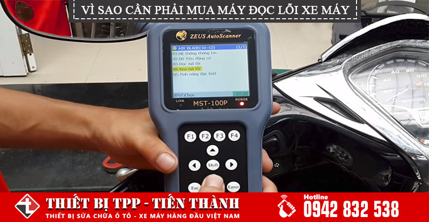 Máy đọc lỗi xe máy mst-100p