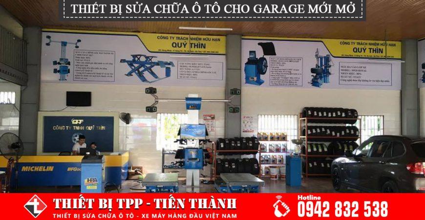 thiết bị sửa chữa ô tô, Trang thiết bị sửa chữa ô tô cho một garage mới mở