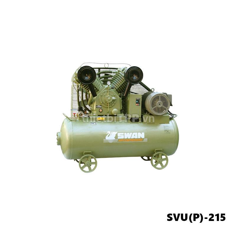 Máy nén khí swan svu(P)-215, máy nén khí, máy nén khí piston, máy nén khí piston swan svu(P)-215, máy bơm hơi khí nén