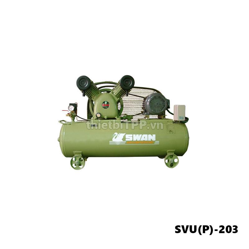 máy nén khí piston swan svu(p)-203, máy nén khí piston, máy nén khí swan air compressor, máy nén khí swan, máy bơm hơi khí nén