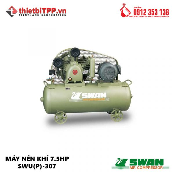 Máy nén khí piston Swan SWU(P)-307, máy nén khí, máy nén khí Swan SWU(P)-307, Máy nén khí công nghiệp, máy nén khí piston, máy bơm hơi chuyên dụng