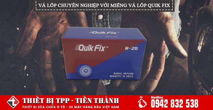 Vá lốp chuyên nghiệp với miếng vá lốp Quik Fix