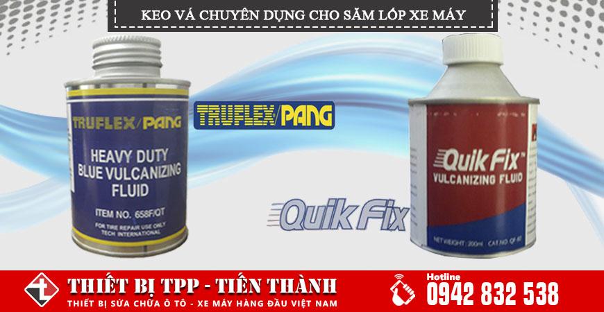 Keo vá lốp xe máy Pang FrufLex và Quik Fix