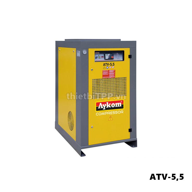 máy nén khí trục vít aykom atv-5,5 , máy nén khí, máy nén khí trục vít, máy bơm hơi trục vít, bình khí nén trục vít công nghiệp