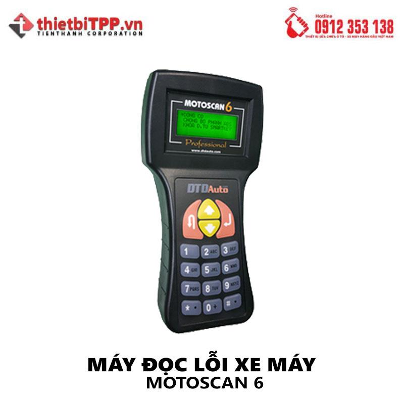 may doc loi xe may, may chuan doan loi motoscan 6, may test loi xe may motoscan 6