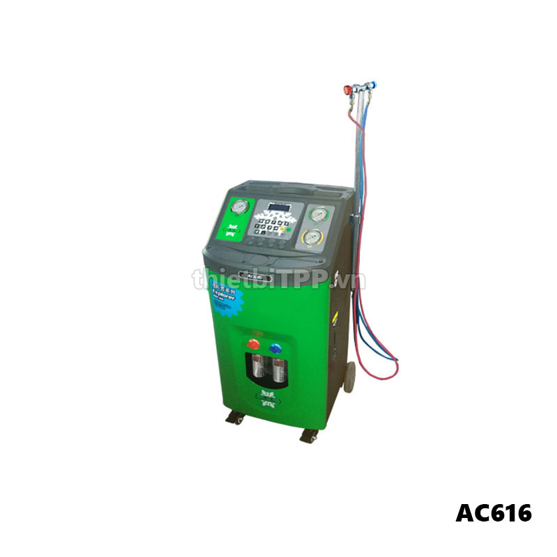 May Nap Ga Dieu Hoa O To Alpha Plus Ac616 Ac Recover Recycle And Recharge Machine