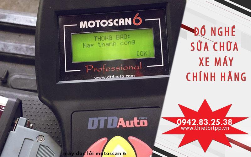 máy đọc lỗi xe máy motoscan 6, thiết bị sửa chữa xe máy, bộ đồ nghề sửa xe máy tốt