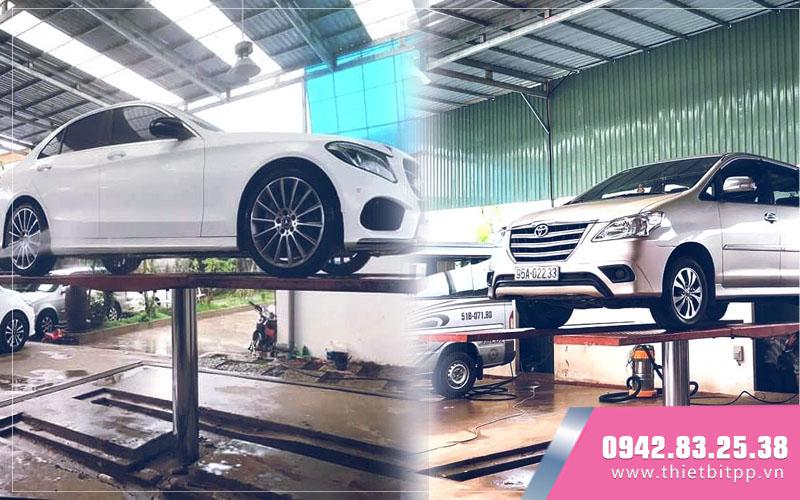 vận hành cầu nâng rửa xe ô tô 1 trụ