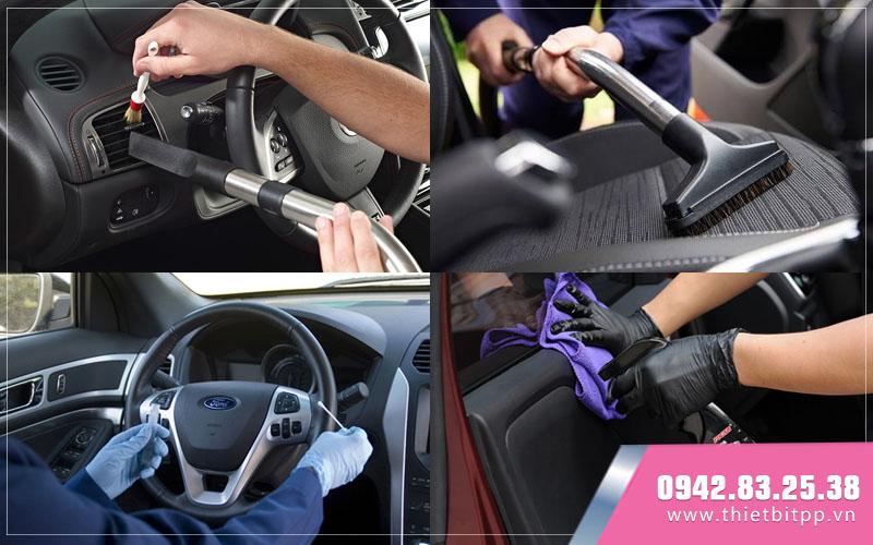 vệ sinh nội thất ô tô, quy trình bâng hạ cầu nâng ô tô tiêu chuẩn