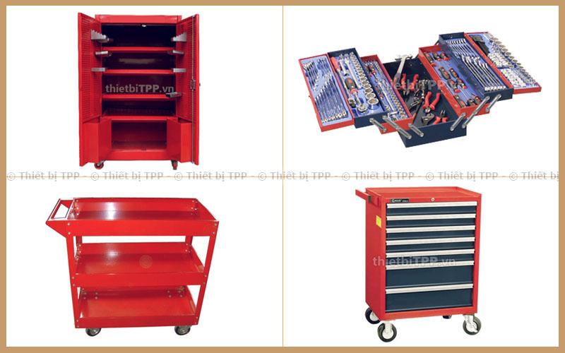 tủ dụng cụ 2 cánh 5 ngăn, tủ đồ nghề xách tay, tủ dụng cụ cơ khí 3 ngăn, tủ đồ nghề sửa chữa xe máy 7 ngăn