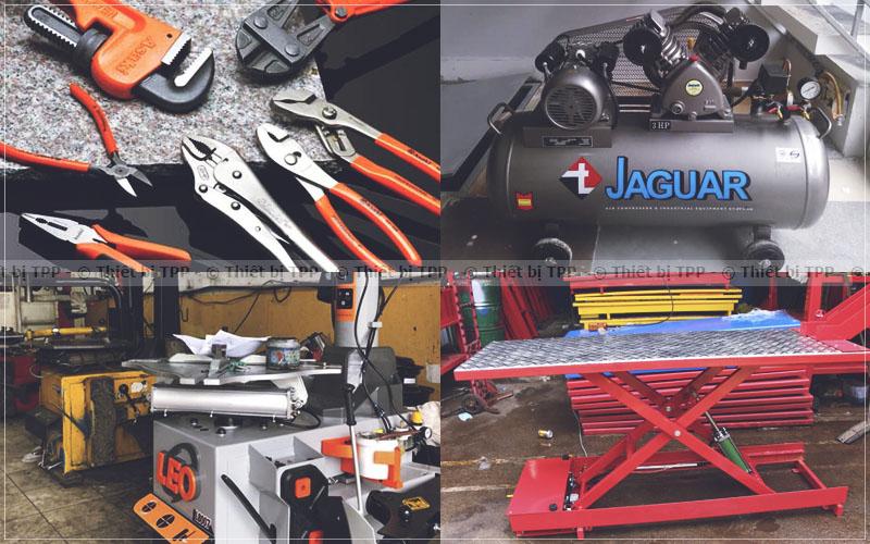 máy nén khí, máy ra vào lốp, máy ra vào lốp xe máy, bàn nâng xe máy, bàn nâng sửa chữa xe máy, bộ dụng cụ cầm tay