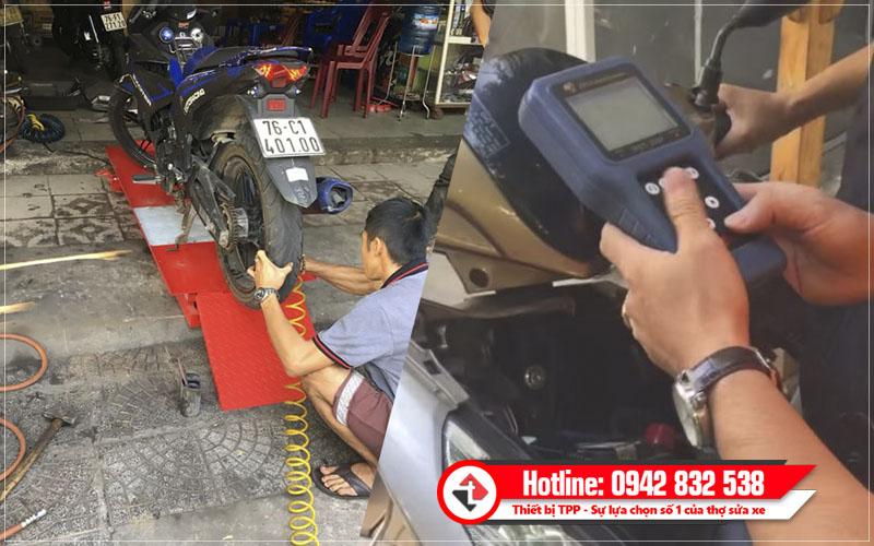 mở tiệm sửa chữa xe máy, thiết bị sửa chữa xe máy, mở tiệm sửa xe máy
