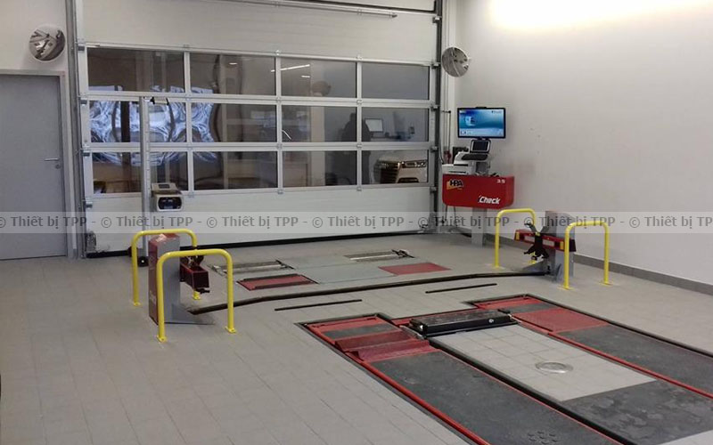 mở tiệm garage, cầu nâng ô tô, thiết bị cân chỉnh góc đặt bánh xe
