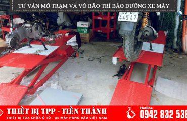 tư vấn mỏ tiệm vá vỏ xe máy, trạm bảo trì bảo dưỡng xe chuyên nghiệp