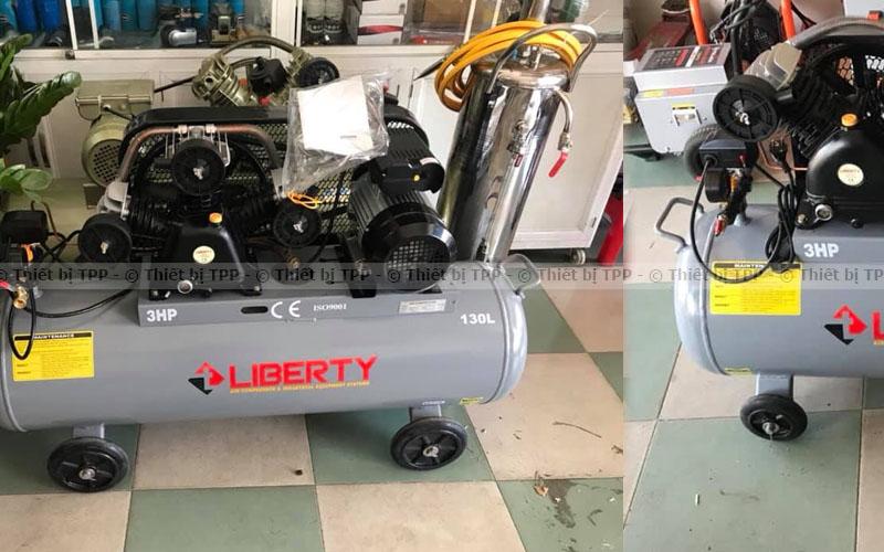 máy nén khí liberty 3hp, máy bơm hơi, máy dây đai