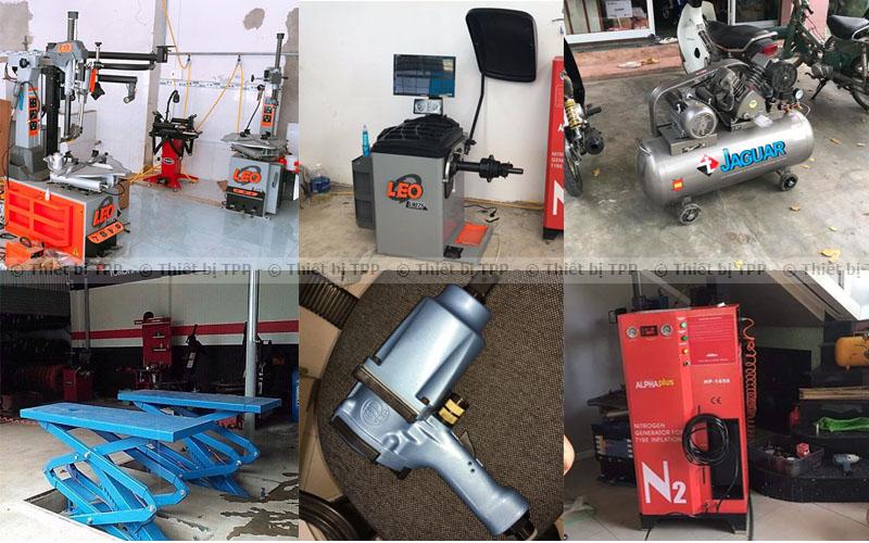 thiết bị sửa chữa xe máy, thiết bị làm lốp ô tô