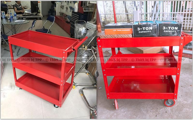 tủ đồ nghề 3 ngăn, xe đẩy đựng dụng cụ 3 ngăn