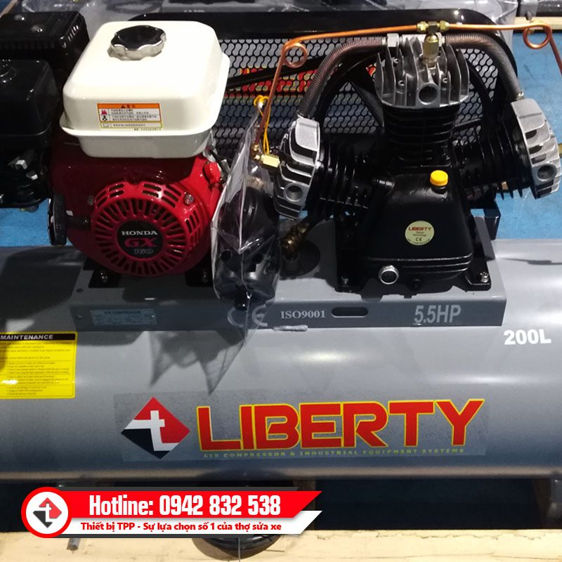 May Bom Khi Nen Bang Hoi 5 5 Hp Liberty Dong Co Xang Chi Tiet