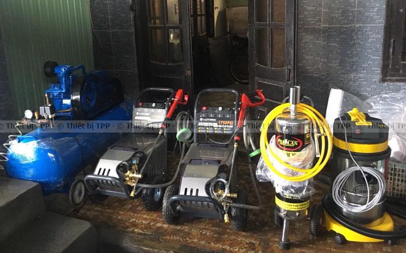 máy rửa xe, bình bọt tuyết, máy nén khí, máy hút bụi