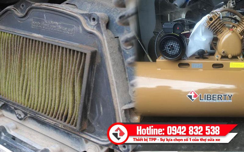 Bộ lọc gió của xe máy rất dễ bị bẩn, bình hơi, bình hơi khí nén, bình hơi giá rẻ