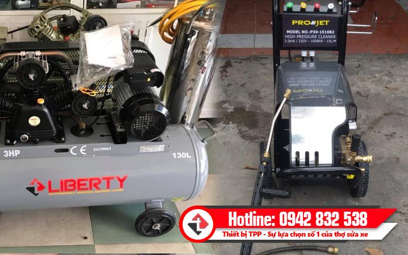 Máy rửa xe kết hợp với máy nén khí, máy phun xịt rửa xe, máy rửa xe, máy rửa xe máy, máy rửa xe ô tô