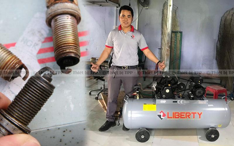 Cần thay thế bu-gi nếu đã sử dụng quá lâu, máy bơm hơi khí nén, bình bơm hơi khí nén, máy bơm hơi công nghiệp