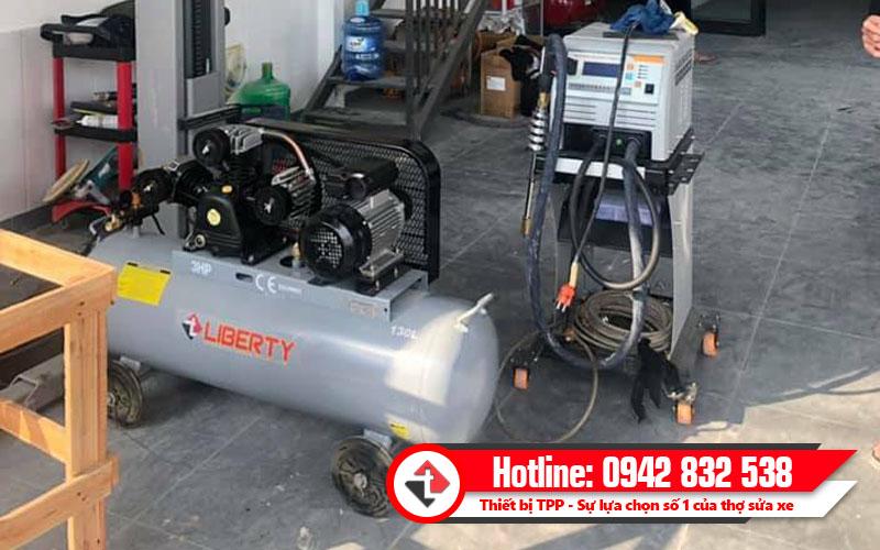 máy bơm hơi 130l, máy hơi 8kg, máy nén khí 8kg, bình hơi giá rẻ