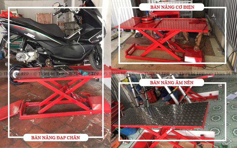 bàn nâng điện cơ, bàn nâng sửa xe điện cơ, bàn nâng xe máy sử dụng điện cơ, bàn nâng sử dụng điện