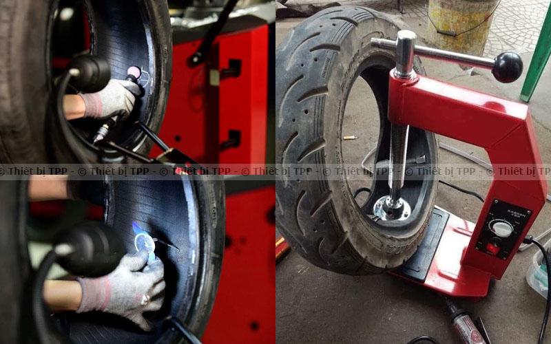 vá trong như thế nào, keo vá lốp bên trong, miếng vá lốp bên trong, vá lốp nóng, vá lốp sống