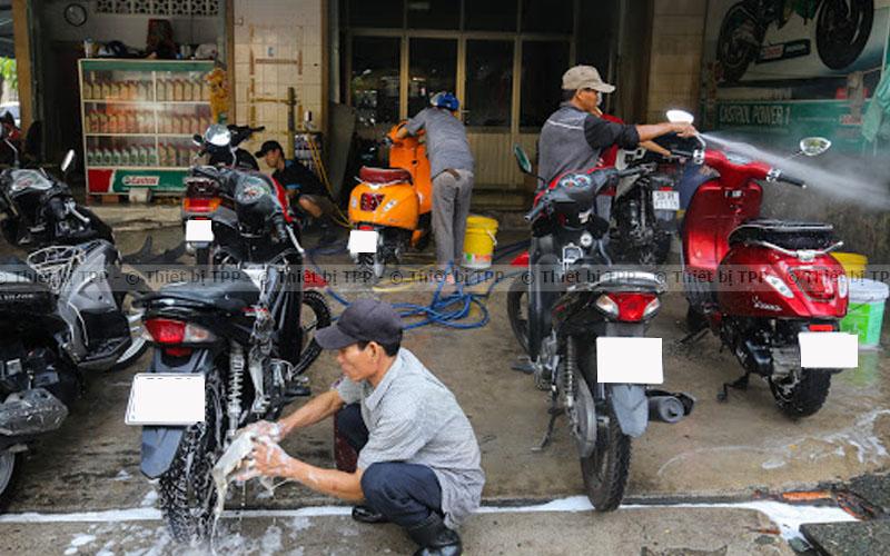 mặt bằng mở tiệm rửa xe máy, mở tiệm rửa xe máy vốn bao nhiêu, mở cửa tiệm rửa xe honda
