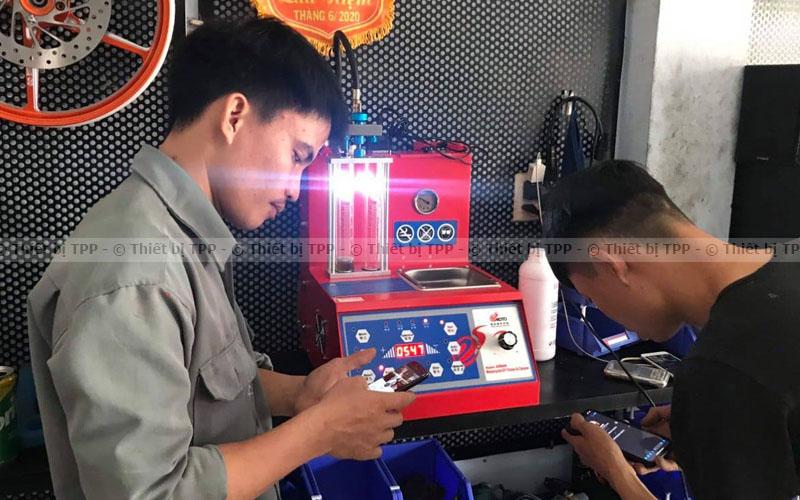thiết bị kiểm tra kim phun, máy kiểm tra phun phun, máy súc kim phun