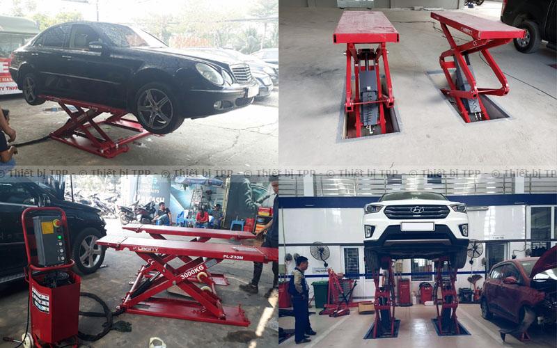 cầu nâng ô tô, cầu nâng ô to cắt kéo, cần nâng ô tô kiểu xếp, cầu nâng cắt kéo nổi, cầu nâng cắt kéo chìm