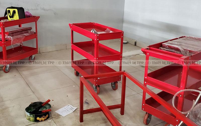 xe đẩy 3 ngăn, xe đựng dụng cụ, tủ đựng đồ nghề