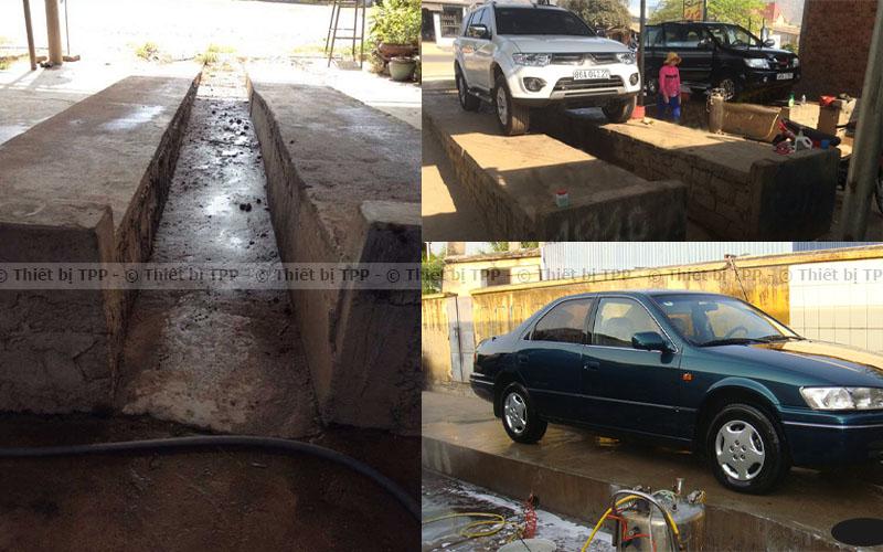 cầu rửa xe hơi xi măng, cầu rửa ô tô xi măng, cầu xi măng rửa xe, cầu xi măng rửa ô tô