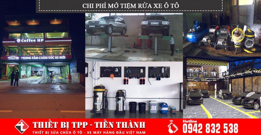 chi phí mở trạm rửa xe chi phí mỏ gara rửa xe, chi phí mở cửa hàng rửa xe, chi phí mở nhà xưởng rửa xe