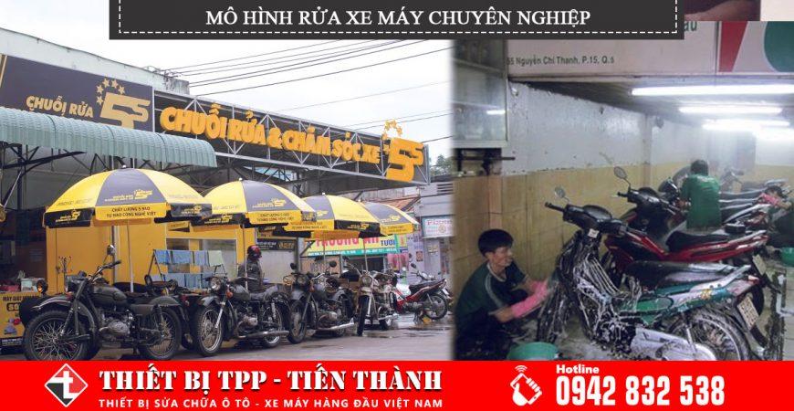 mô hình rửa xe máy