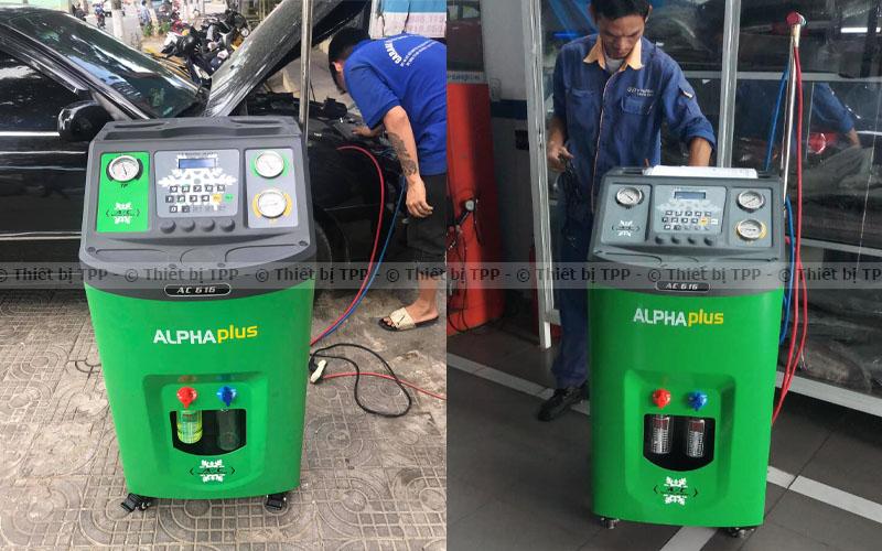 quá trình nạp gas điều hòa cho xe ô tô